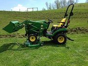 2012 John Deere 1026R 4X4 Loader,  Mowing Deck